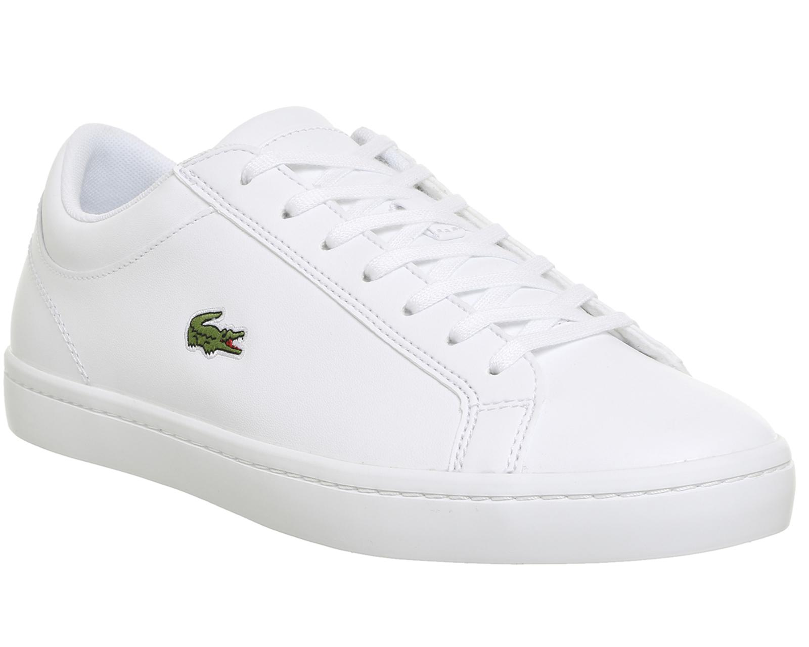 5bbc698b4 Lacoste Straightset Trainers in White for Men - Lyst