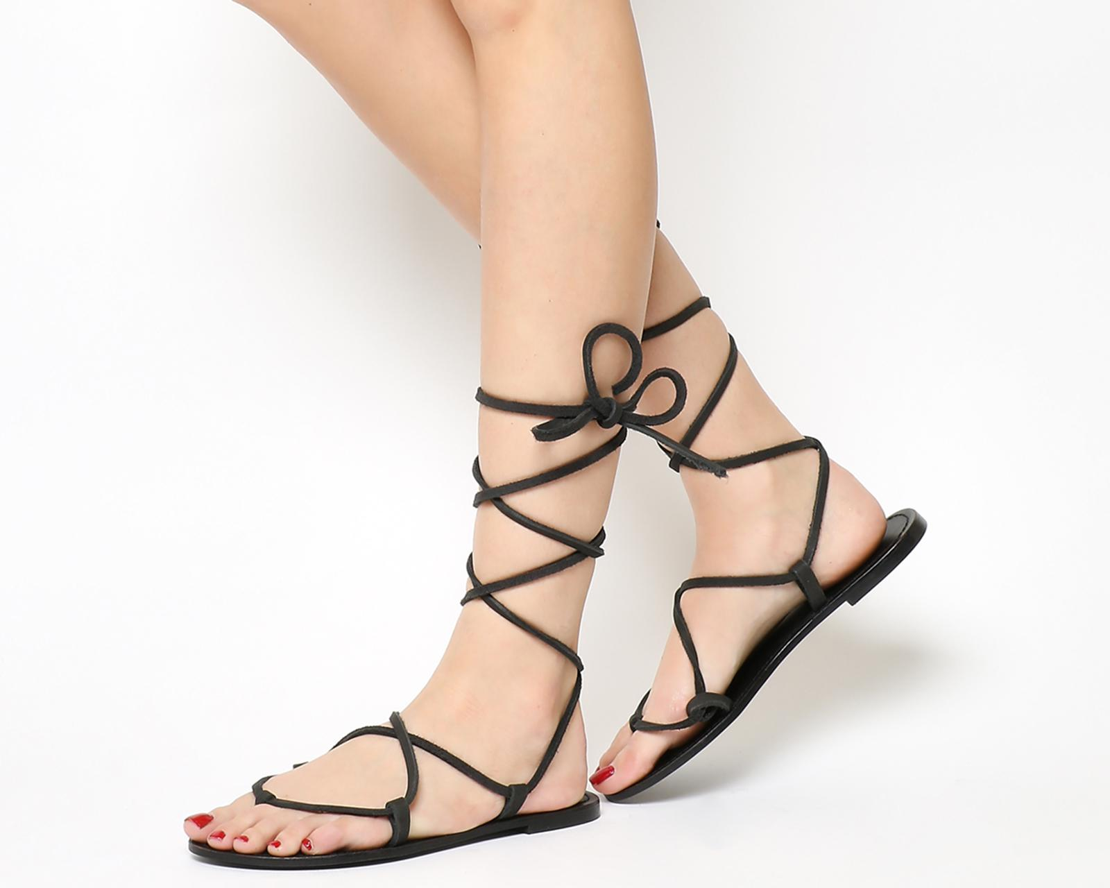 167fc4437439 Office Barefoot Barely There Sandal in Black - Lyst