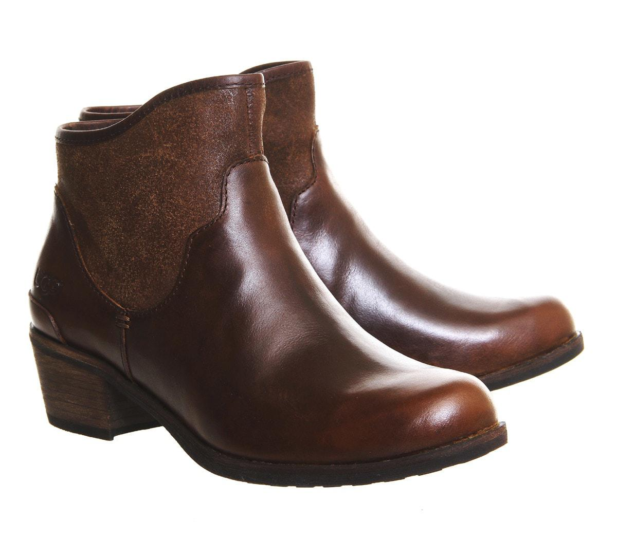 73d670ca057 UGG Penelope Ankle Boots in Brown - Lyst