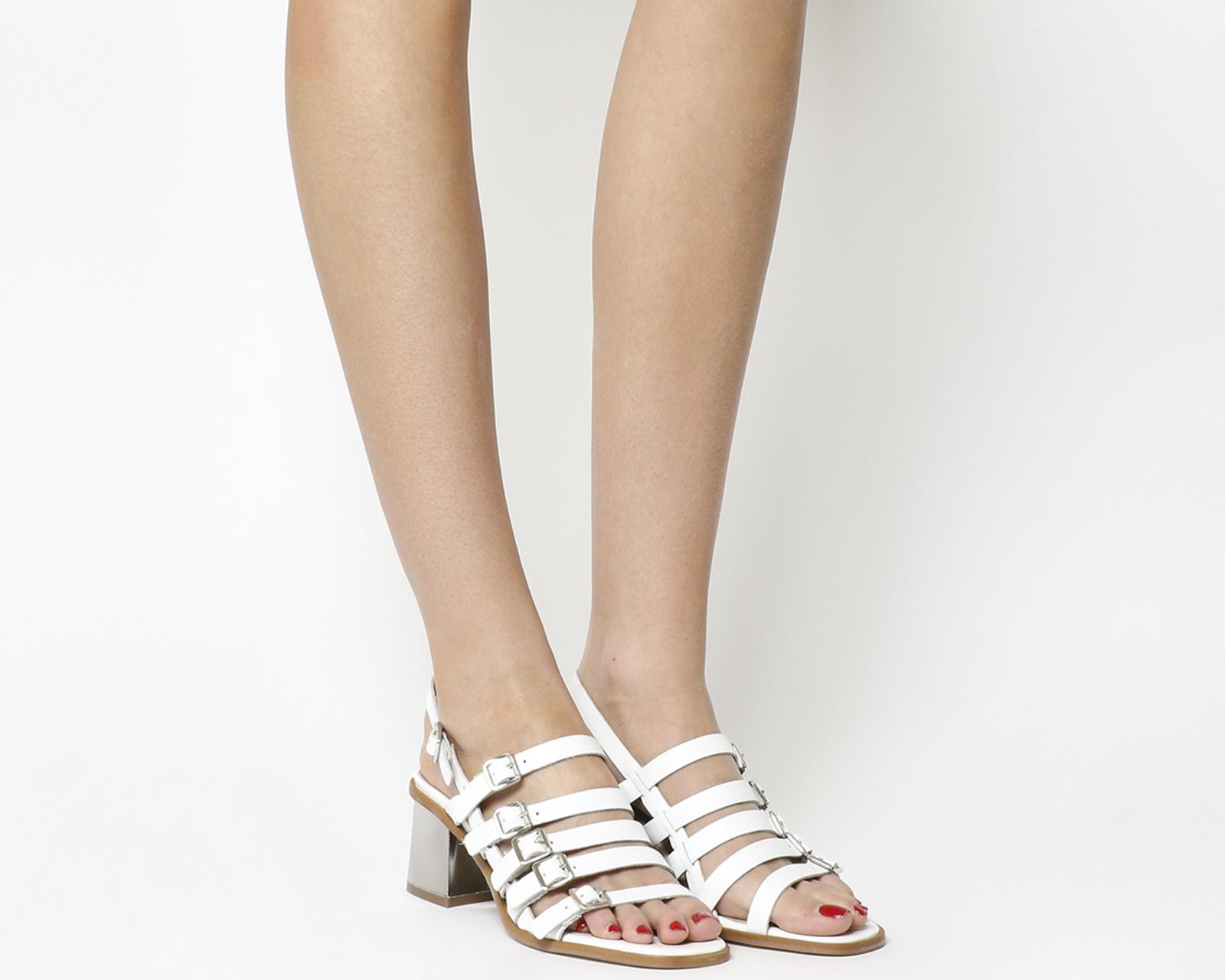 fd6419aa186 Lyst - Office Manilla Strappy Heels in White