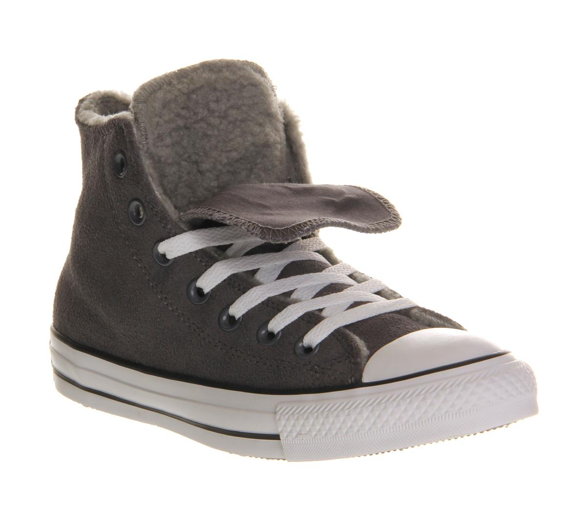 ae2ed00eb2e4 Lyst - Converse All Star Hi Double Tongue in Gray for Men