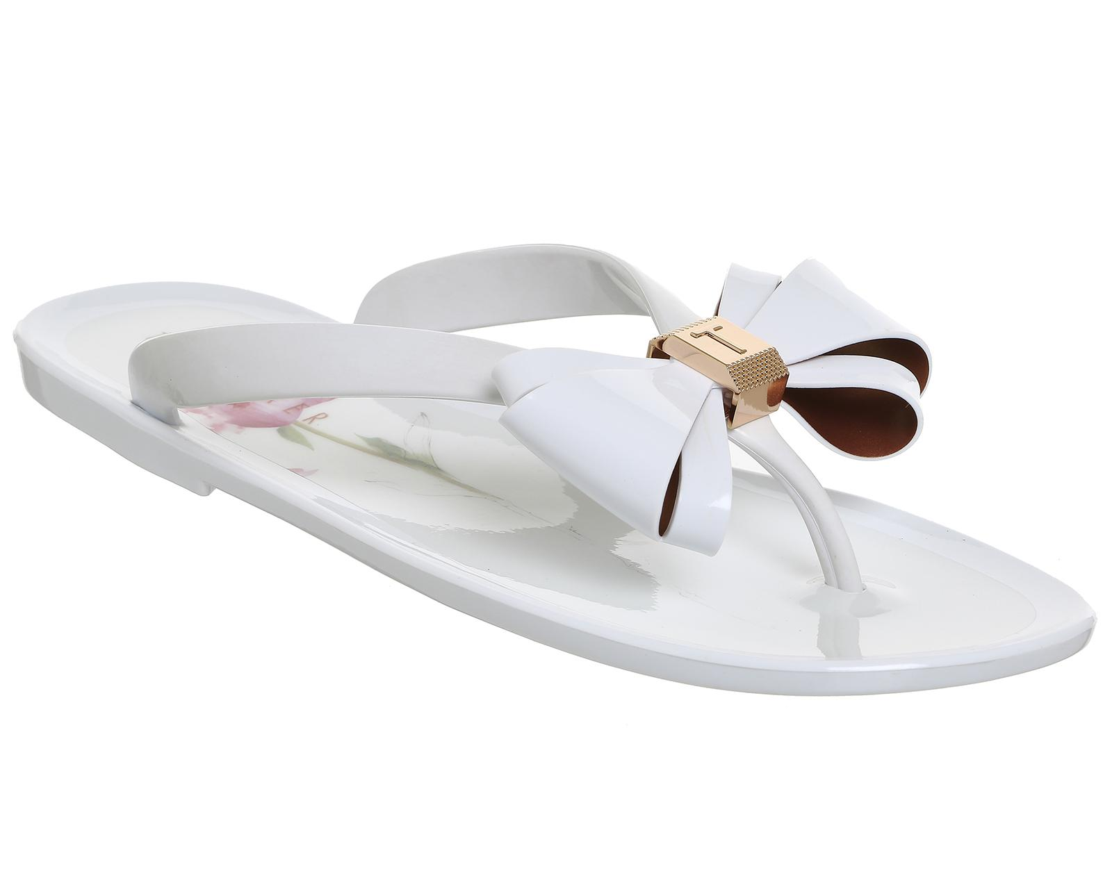 3675558a5f76cb Lyst - Ted Baker Rueday Flip Flops in White