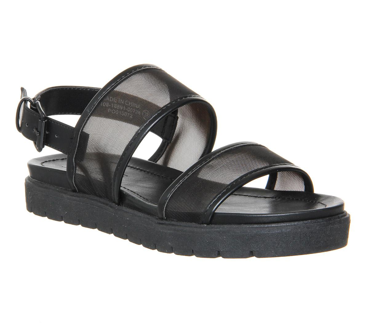 668a631ef Lyst - Office Optic Double Strap Sling Sandals in Black