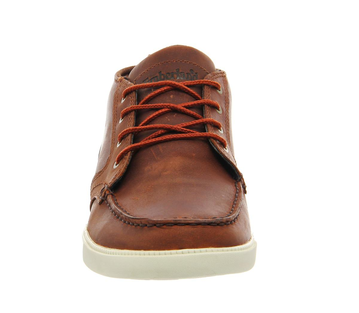 Timberland Brown Newmarket Fulk Lp Chukka Moc Toe for men