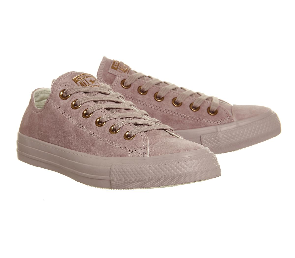 14f0d45754f5d Lyst - Converse All Star Low Leather in Pink