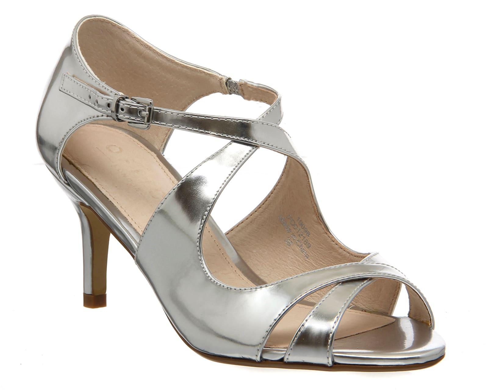 7610c449121 Lyst - Office Windsor Cross Strap Sandal in Metallic