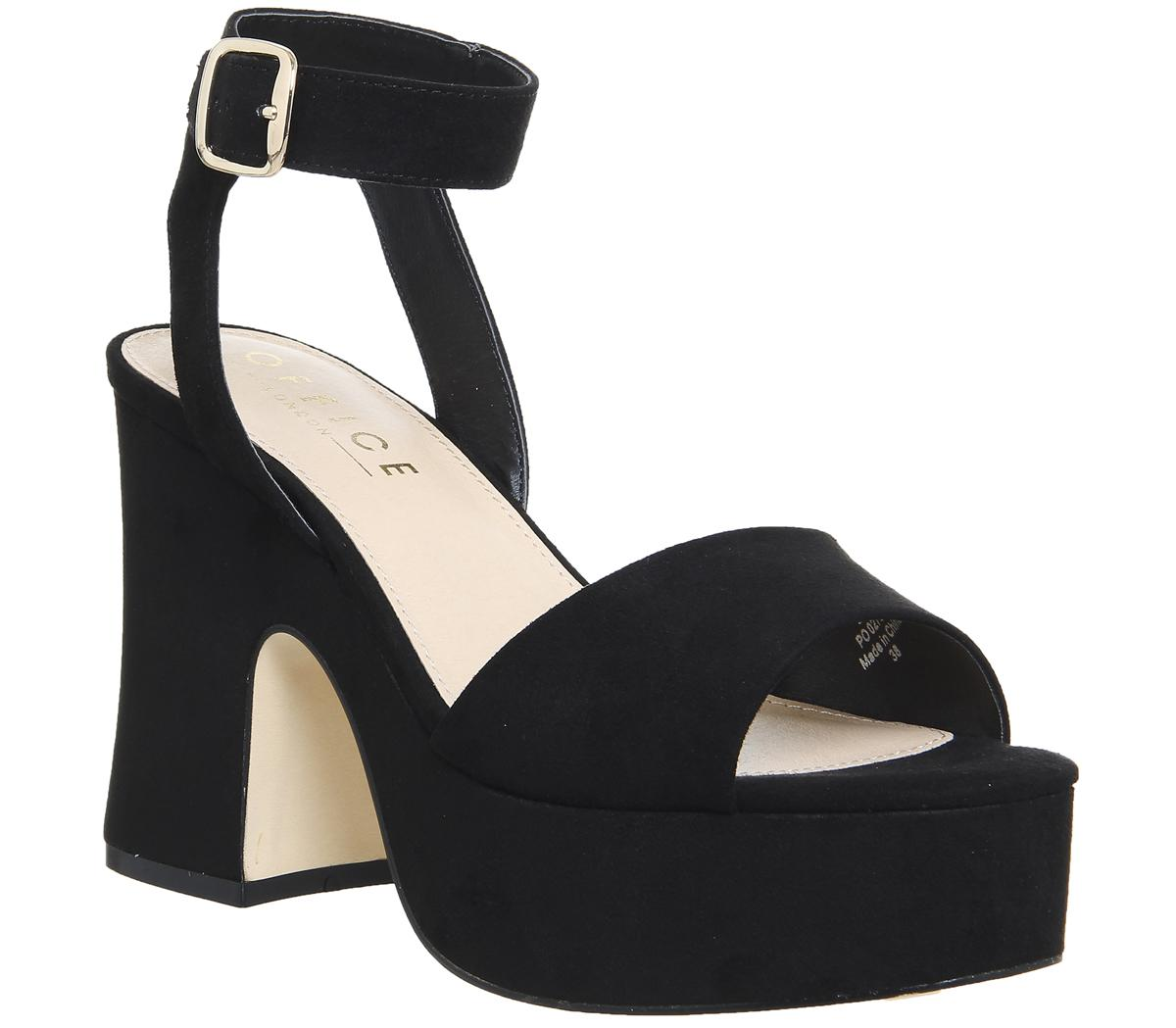 Office Moscato Chunky Platform Sandals In Black Lyst