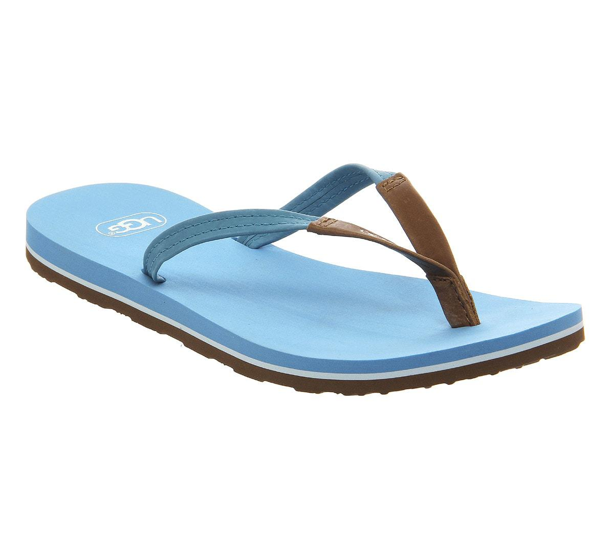 Womens Sandals UGG Magnolia Brilliant Blue Leather