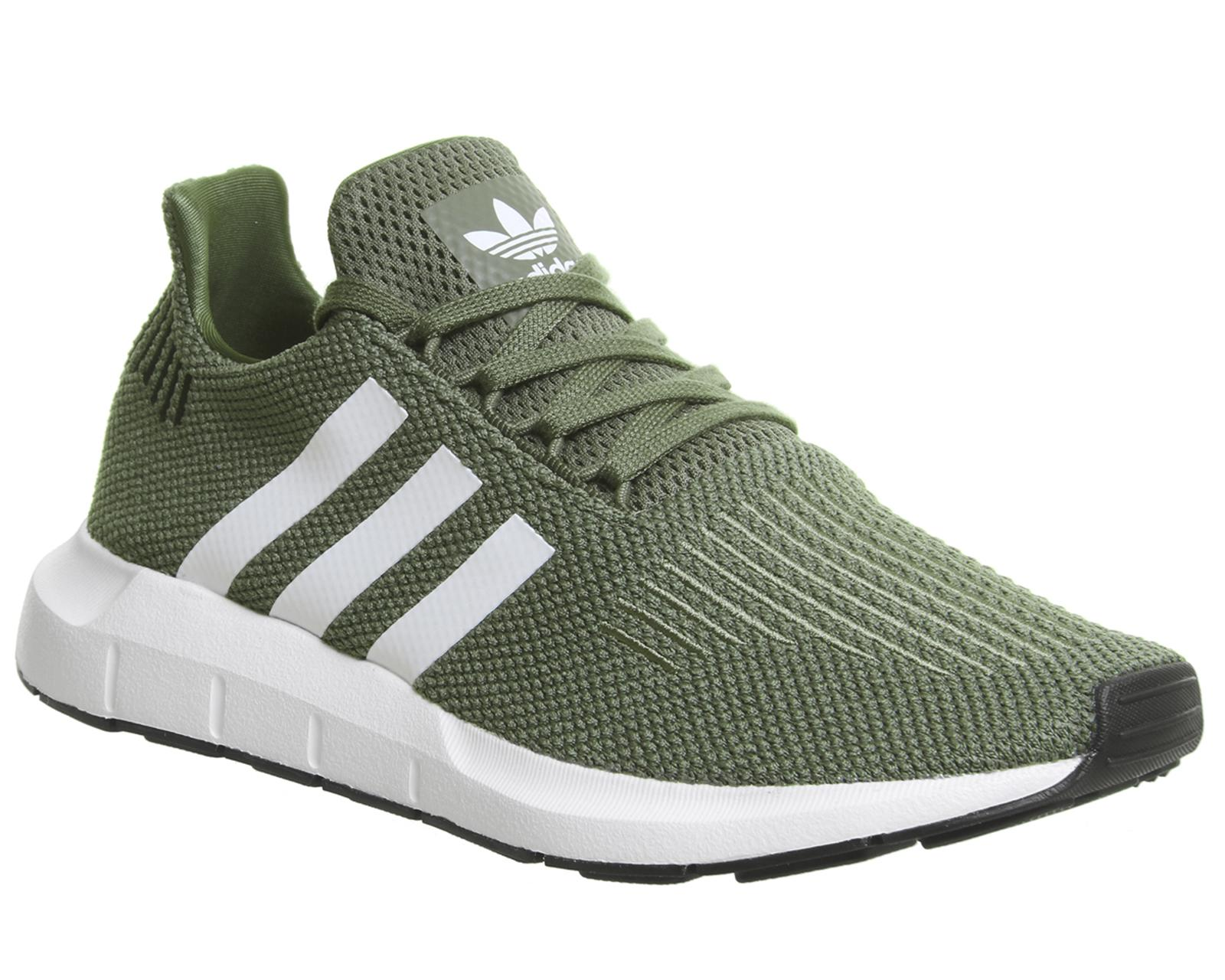 0c84a723e adidas Swift Run Trainers in Green - Lyst