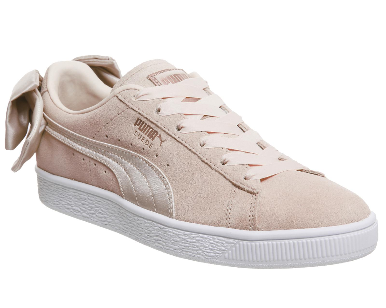 cheap finishline Puma Suede Bow Trainers In White top quality for sale outlet 100% guaranteed R4siRUx