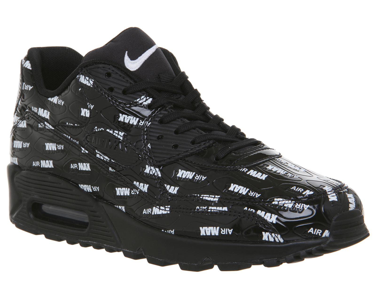 new product d0e72 9f583 ... best price nike. mens black air max 90 trainers 9d66f a92ff