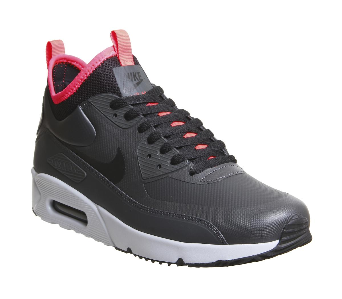 e0c322ed225 Nike Air Max 90 Mid Wntr Trainers in Black for Men - Lyst