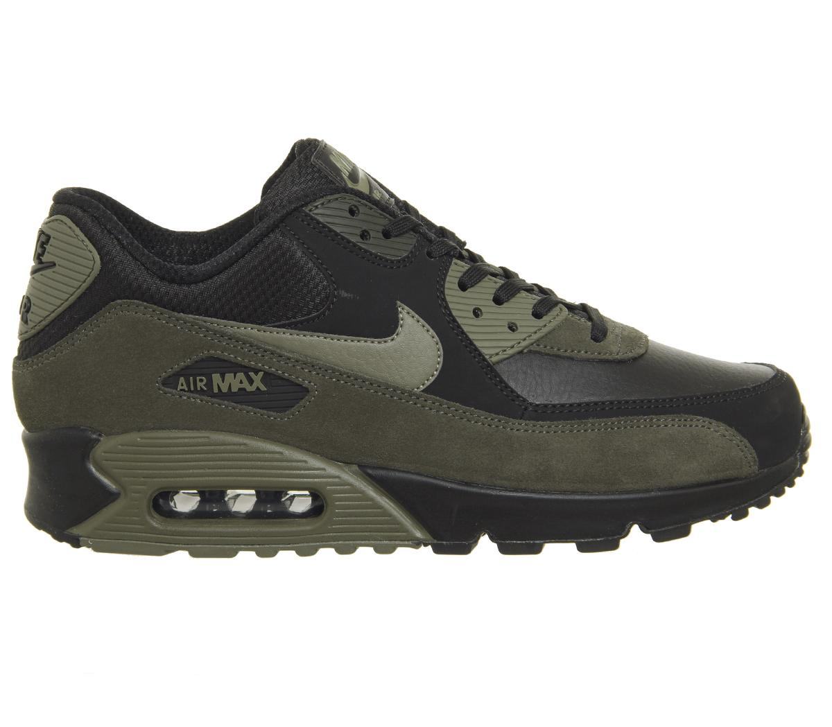 Lyst - Nike Air Max 90 Trainers in Black for Men 65fe46650b