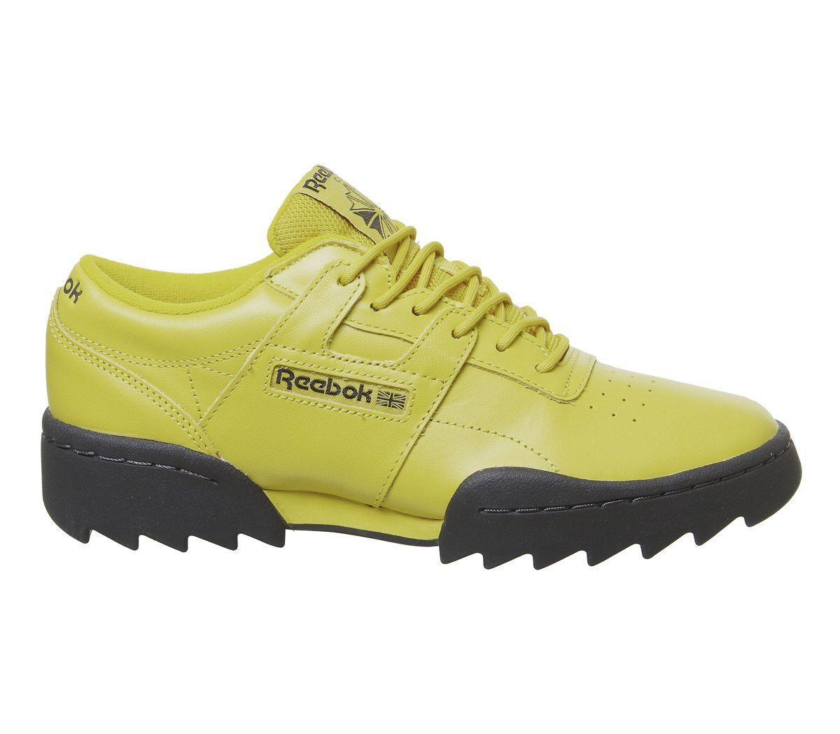 6c758ec26c596 Reebok - Yellow Workout Ripple Trainers for Men - Lyst. View fullscreen