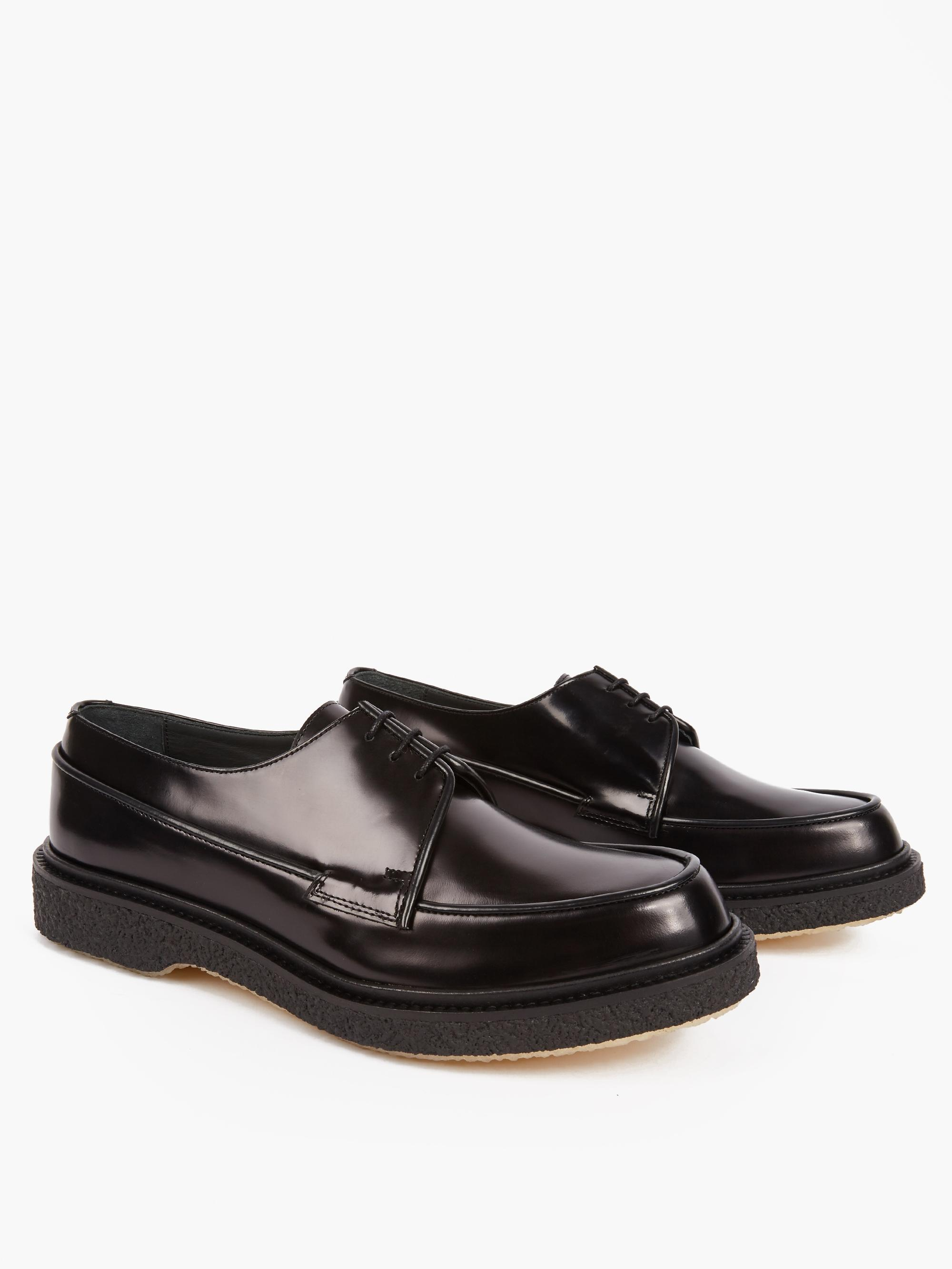 adieu black leather type 48 shoes in black for lyst