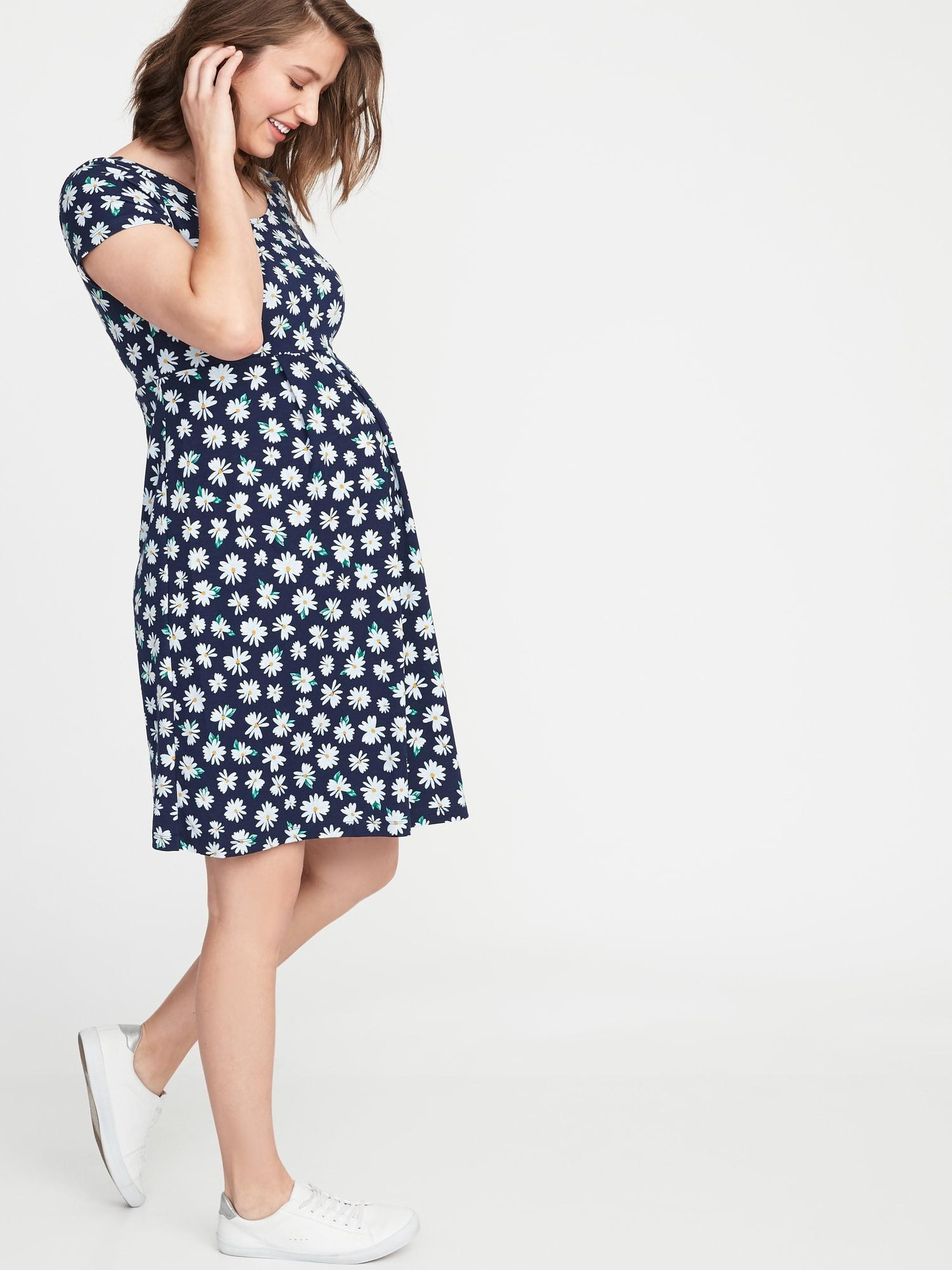 9d4969015035c Old Navy Maternity Fit & Flare Ponte-knit Dress in Blue - Lyst