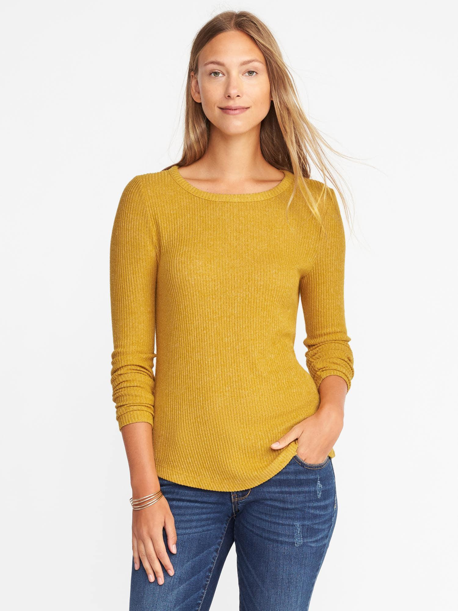 3a35e5db826 Old Navy Plush Rib-knit Pullover in Yellow - Lyst