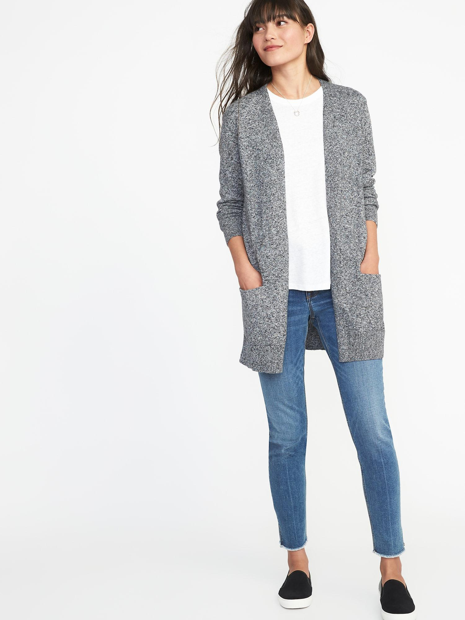 db7d330965 Lyst - Old Navy Long-line Open-front Sweater
