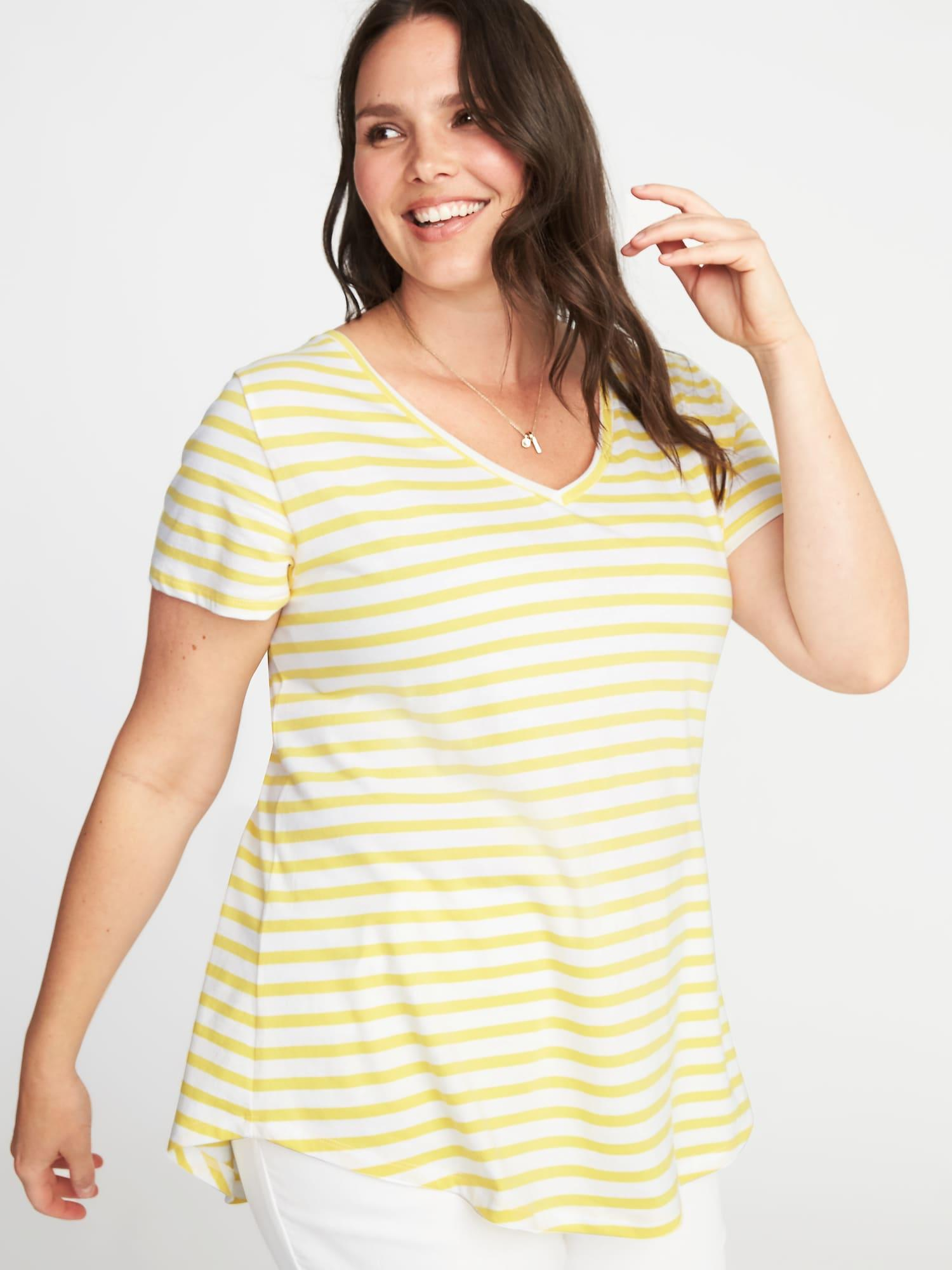 d3514b6d38 Lyst - Old Navy Everywear Plus-size V-neck Tee in Yellow