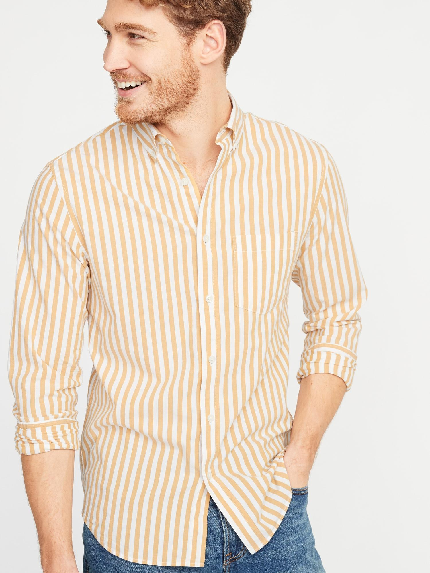 Lyst - Old Navy Slim-fit Built-in Flex Striped Everyday Shirt for Men 5530f8186