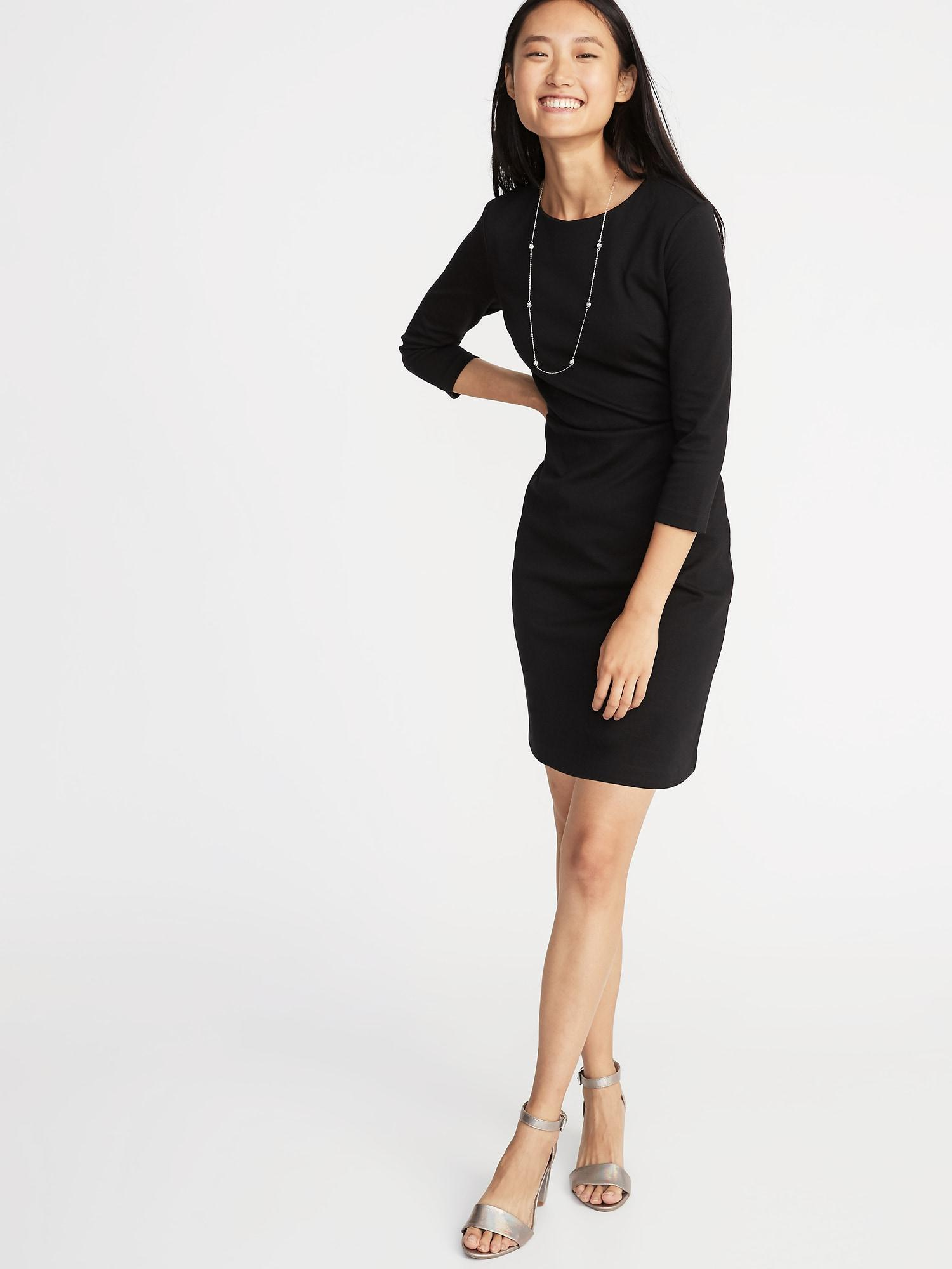 2004bb0db5b85 Lyst - Old Navy Ponte-knit Sheath Dress in Black