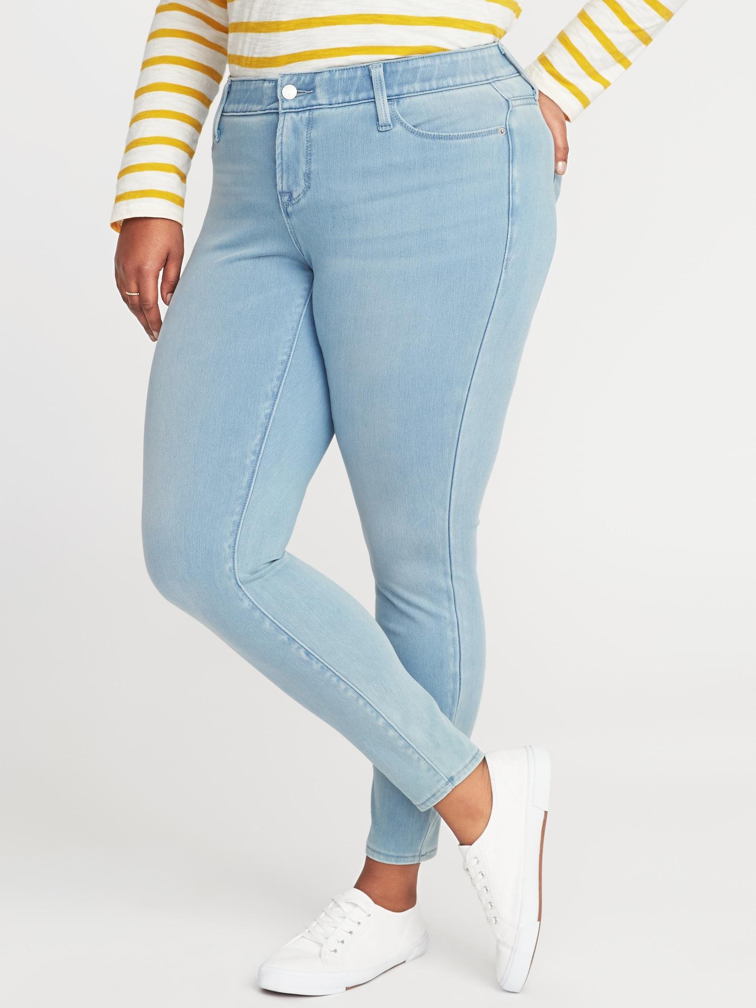 8e383c86c8e Old Navy. Women s Blue High-rise Secret-slim Pockets + Waistband Rockstar  24 7 Plus-size Jeans
