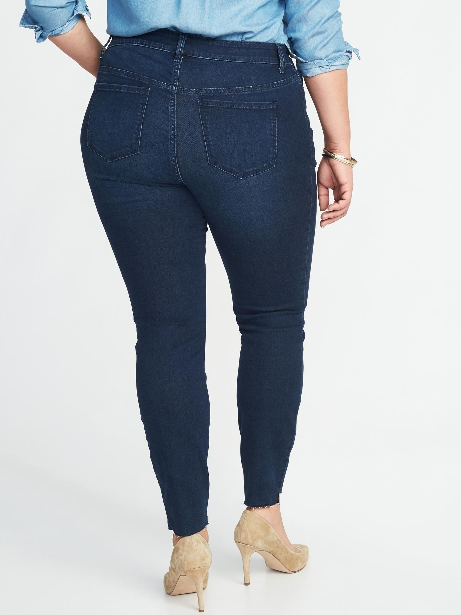 10d7dddc2026a2 Old Navy High-rise Secret-slim Pockets Plus-size Step-hem Rockstar Jeans in  Blue - Lyst