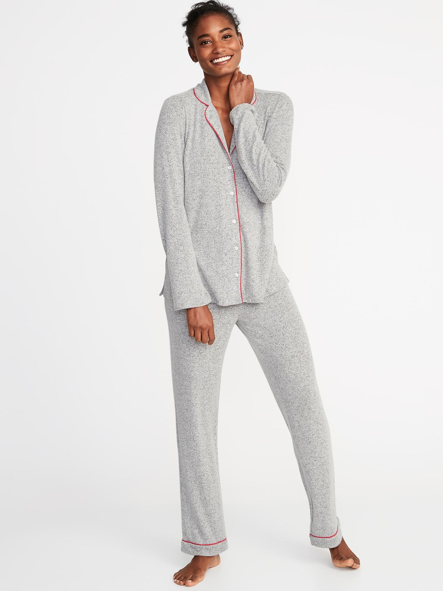 79a2ac2cec7 Lyst - Old Navy Plush-knit Sleep Set in Gray