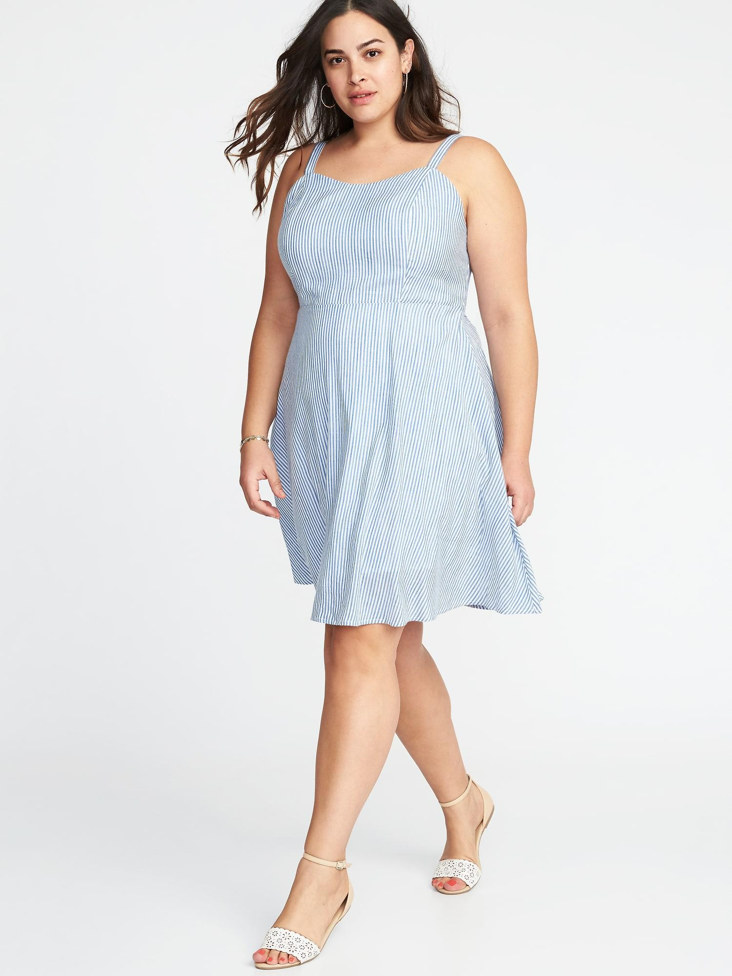 b71852738e1 Old Navy Plus-size Fit   Flare Cami Dress in Blue - Lyst