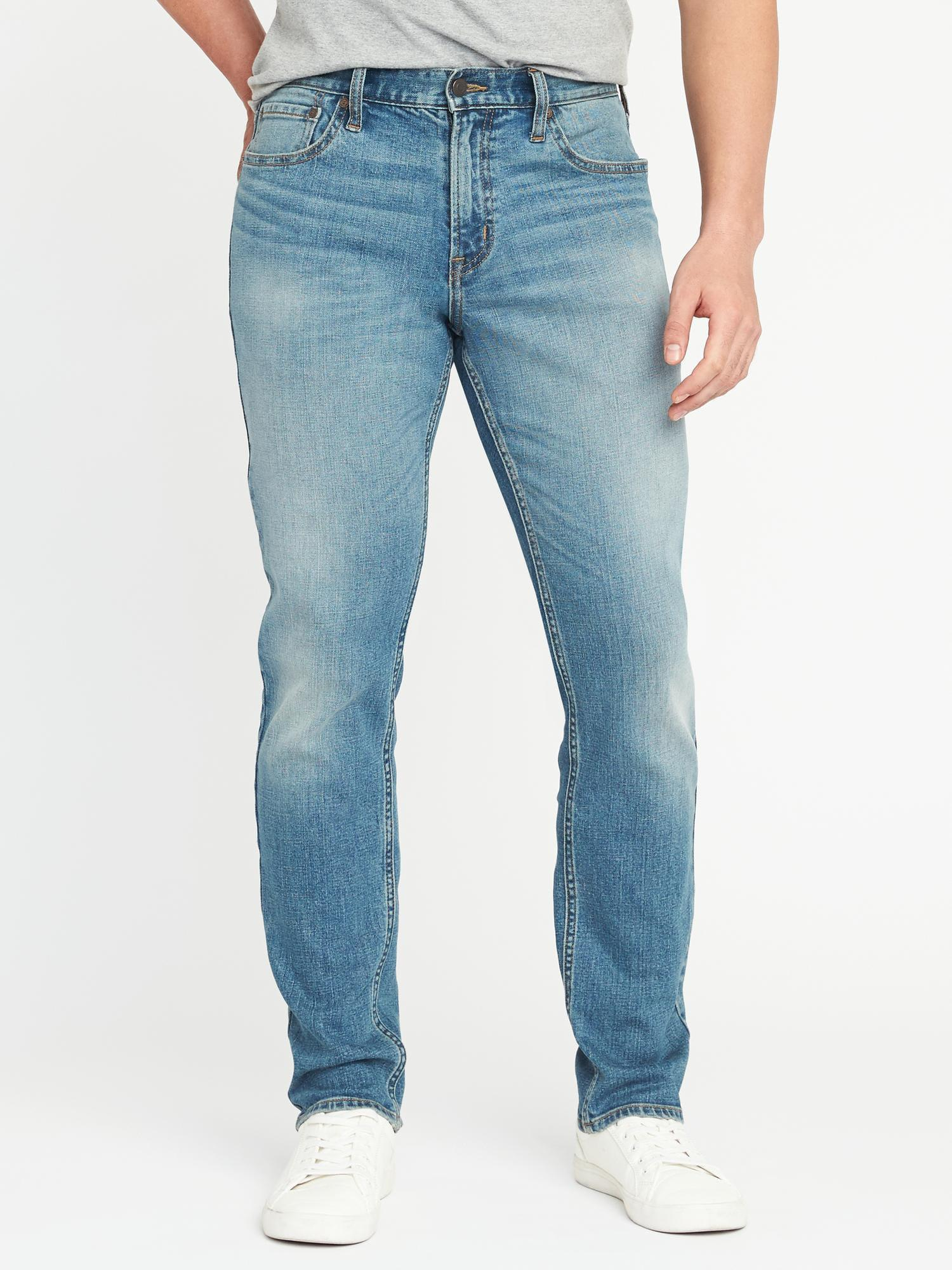 5badce240 Lyst - Old Navy Athletic Built-in Flex Light-wash Jeans in Blue for Men