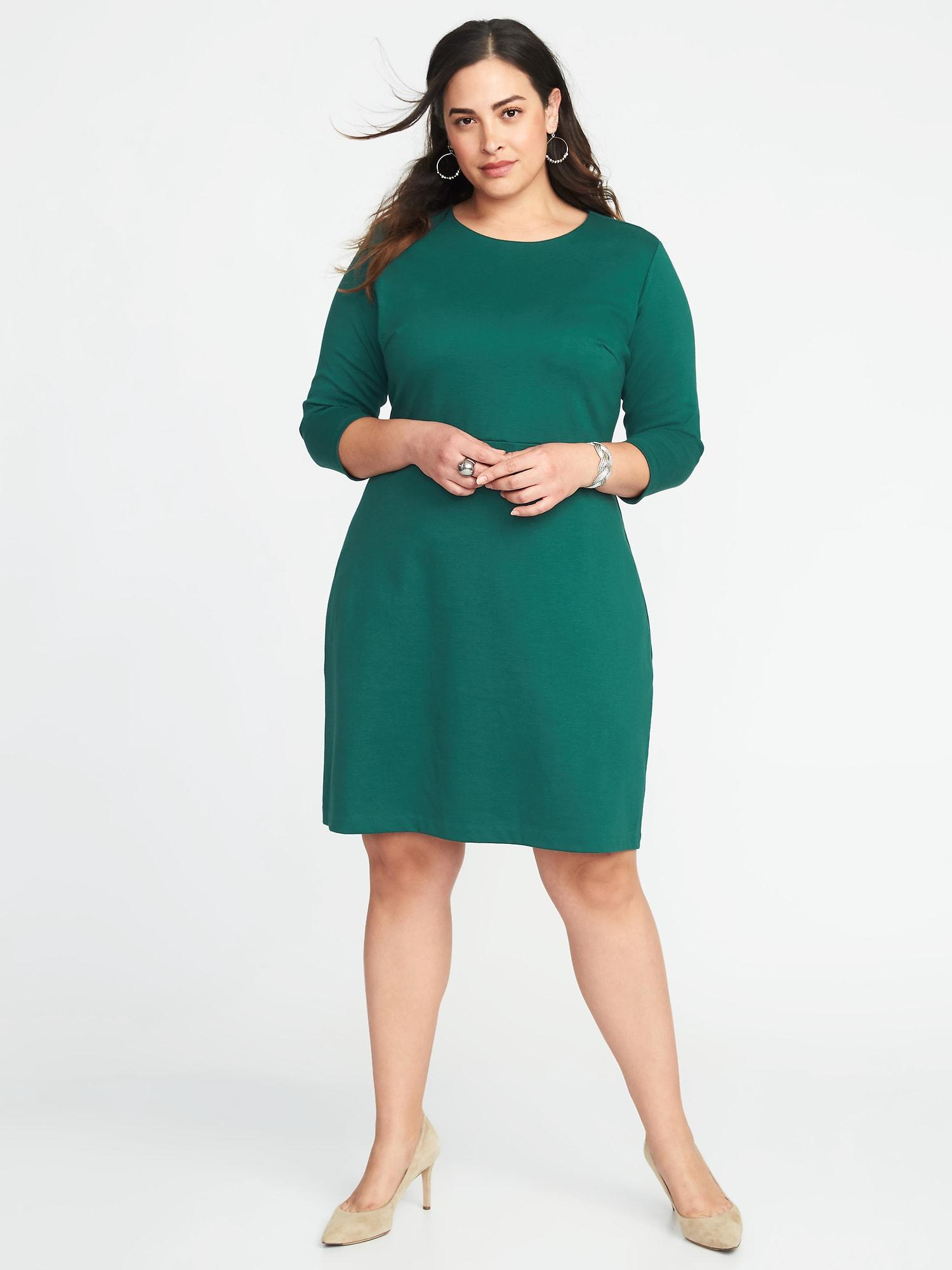 9e491244746a2 Lyst - Old Navy Plus-size Ponte-knit Sheath Dress in Green