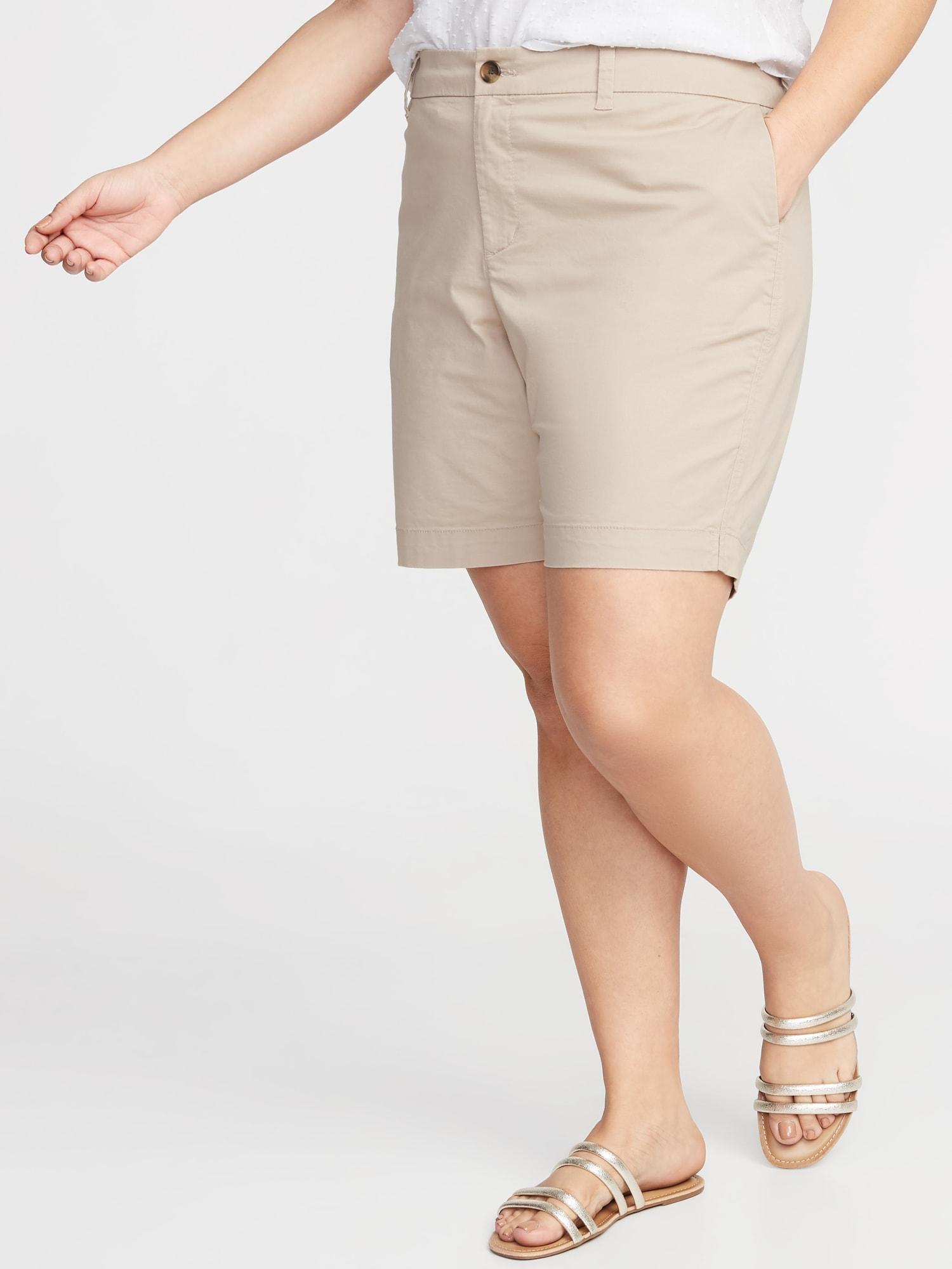 2330d429527 Lyst - Old Navy Mid-rise Everyday Twill Plus-size Shorts - 9-inch ...
