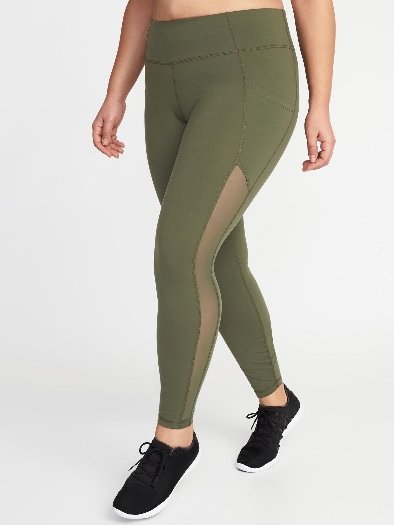 d9443271872eca Lyst - Old Navy High-rise Elevate Compression Plus-size Pocket ...