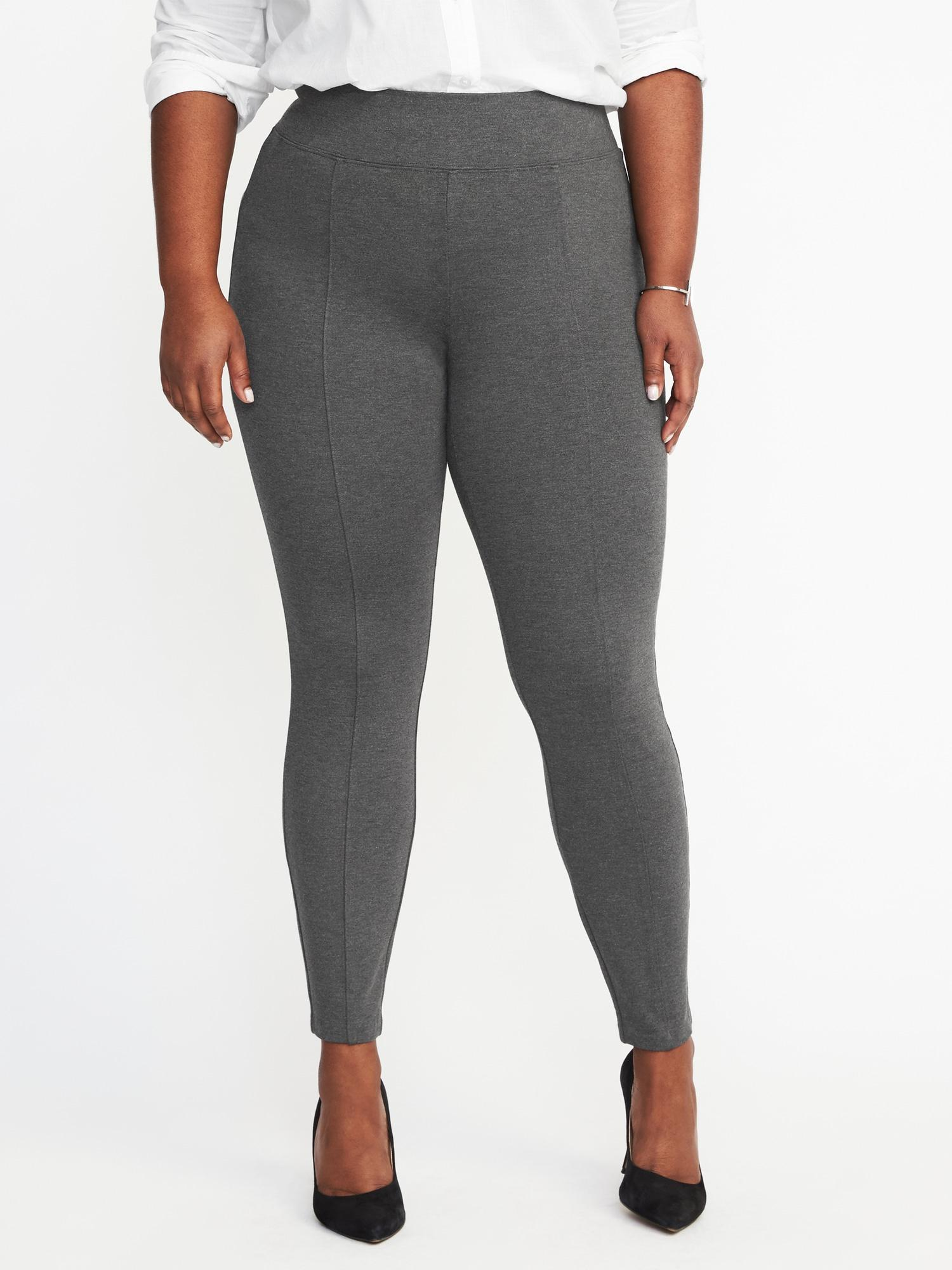 06e368b67577a Lyst - Old Navy High-rise Plus-size Built-in Sculpt Stevie Pants in Gray