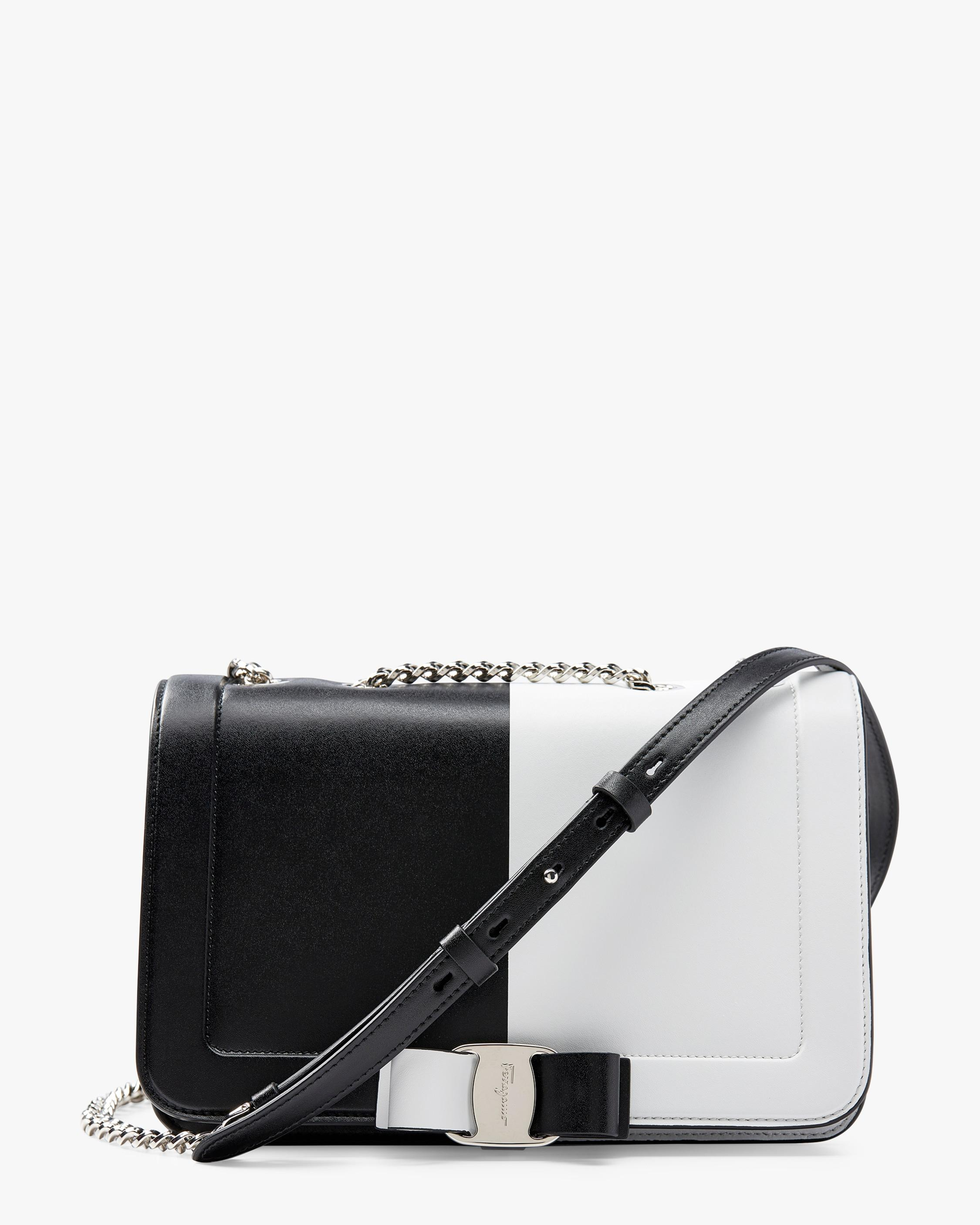 b0fd9f2dc9ba Lyst - Ferragamo Vara Colorblock Leather Shoulder Bag - in Black
