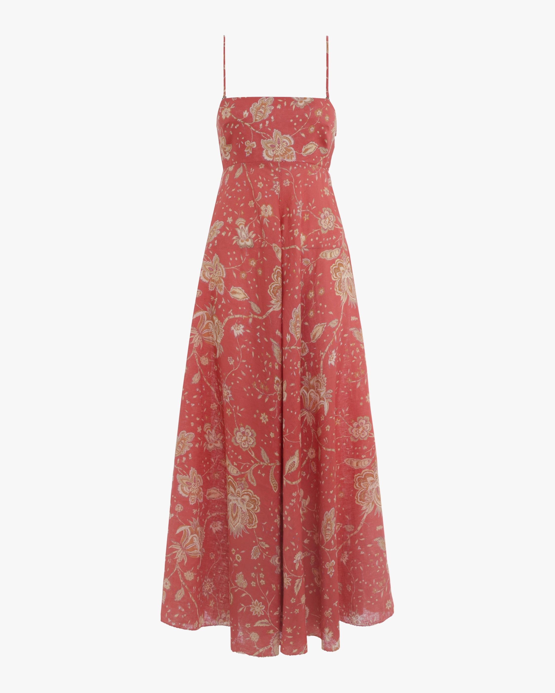 6ee93f4fea5 Zimmermann Veneto Strapless Long Dress in Red - Lyst