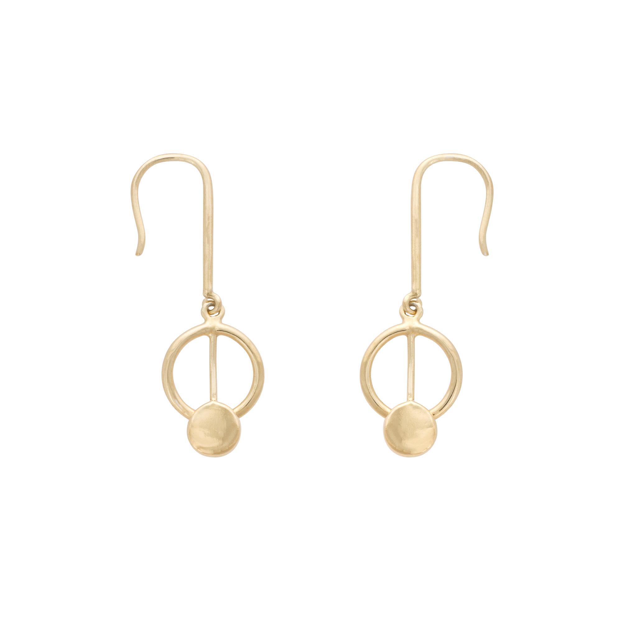 Lyst - Oliver Bonas Eclipse Interlink Circle Hoop Drop Earrings in ...