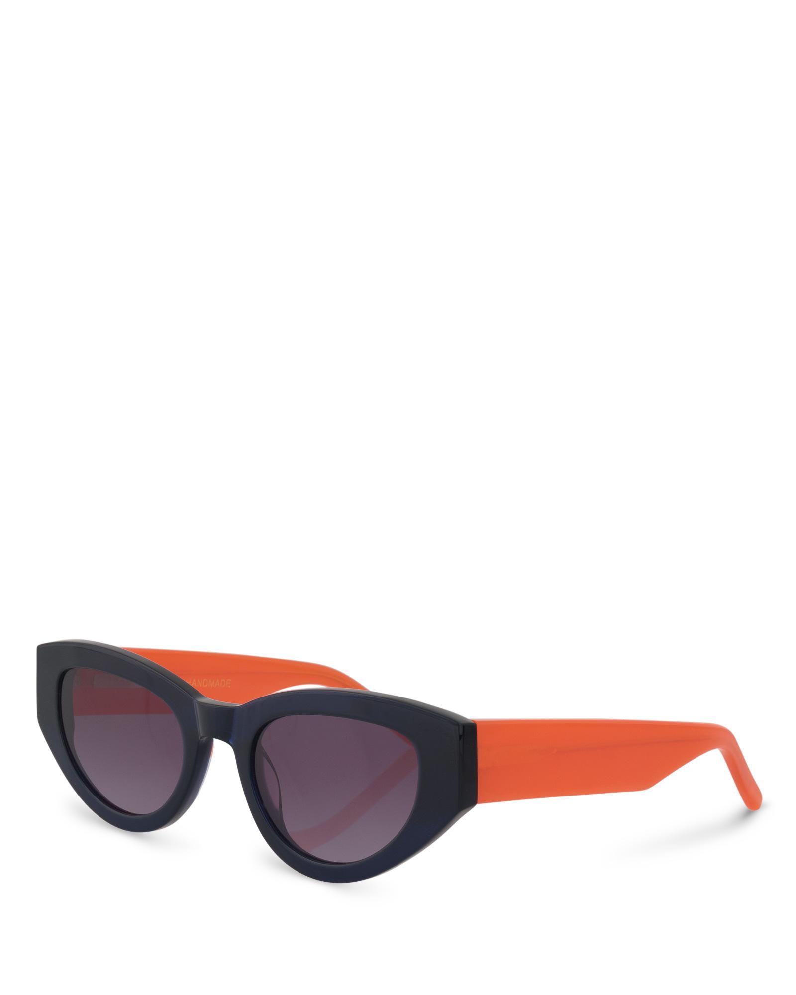 04d4f4deb Oliver Bonas Berlin Navy & Orange Sunglasses in Blue - Lyst