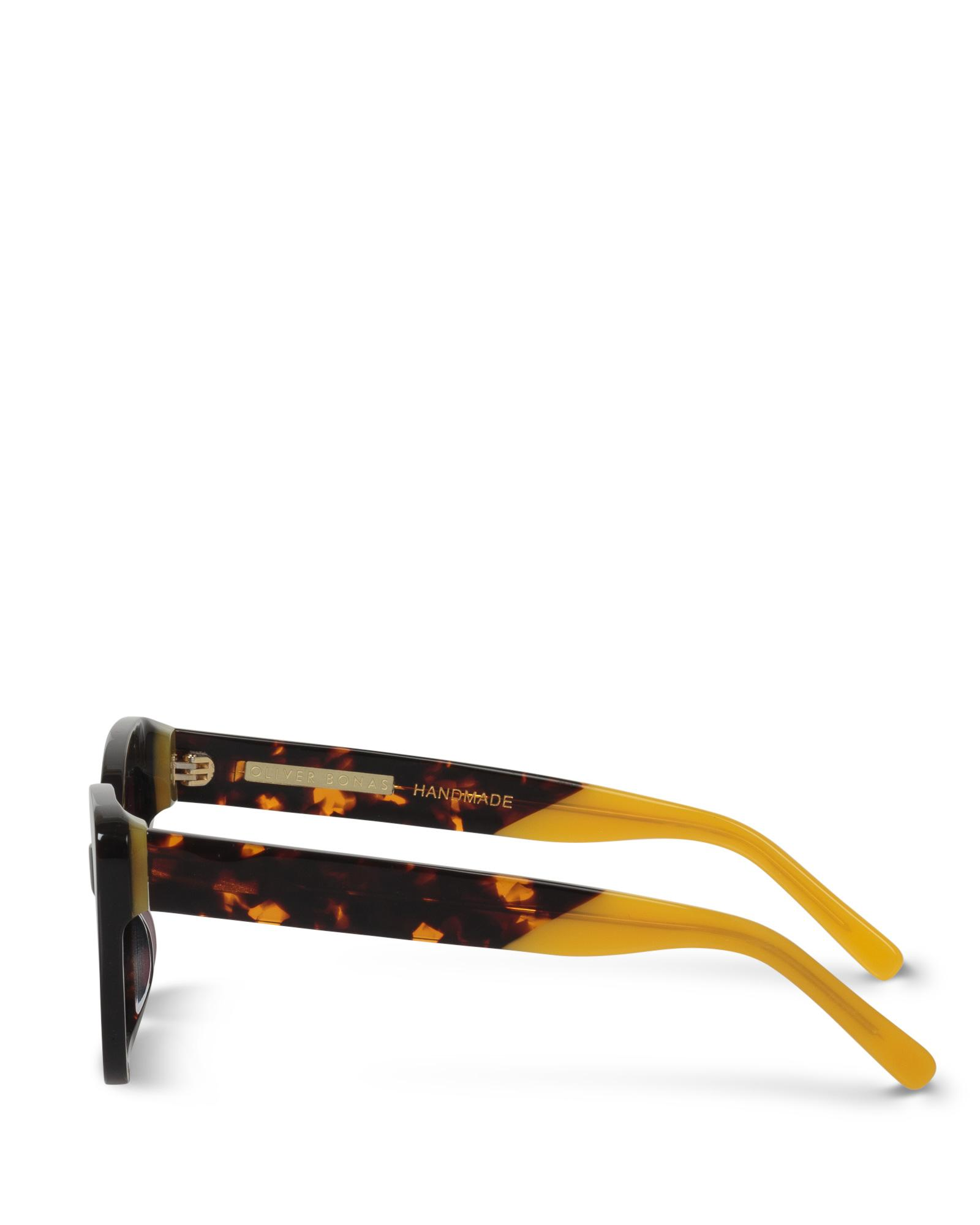 c1fbf1250 Oliver Bonas Rio Cat Eye Tortoise Shell Sunglasses in Brown - Lyst