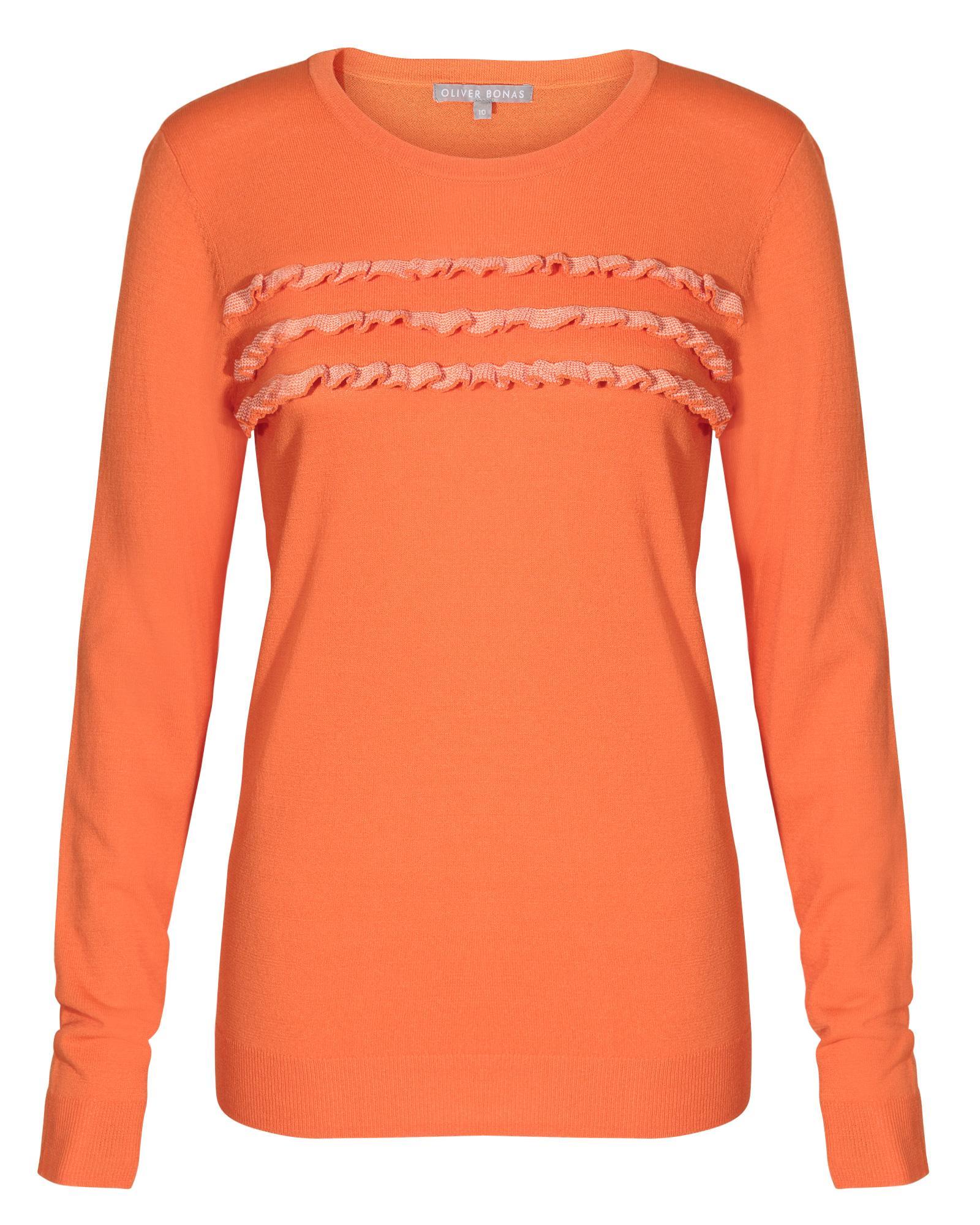 7580c334ce Oliver Bonas - Adore Ruffle Orange Sweater - Lyst. View fullscreen