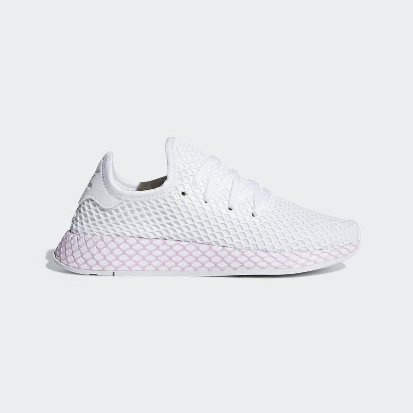 lyst adidas originali scarpe da donna deerupt w b37601 in bianco.