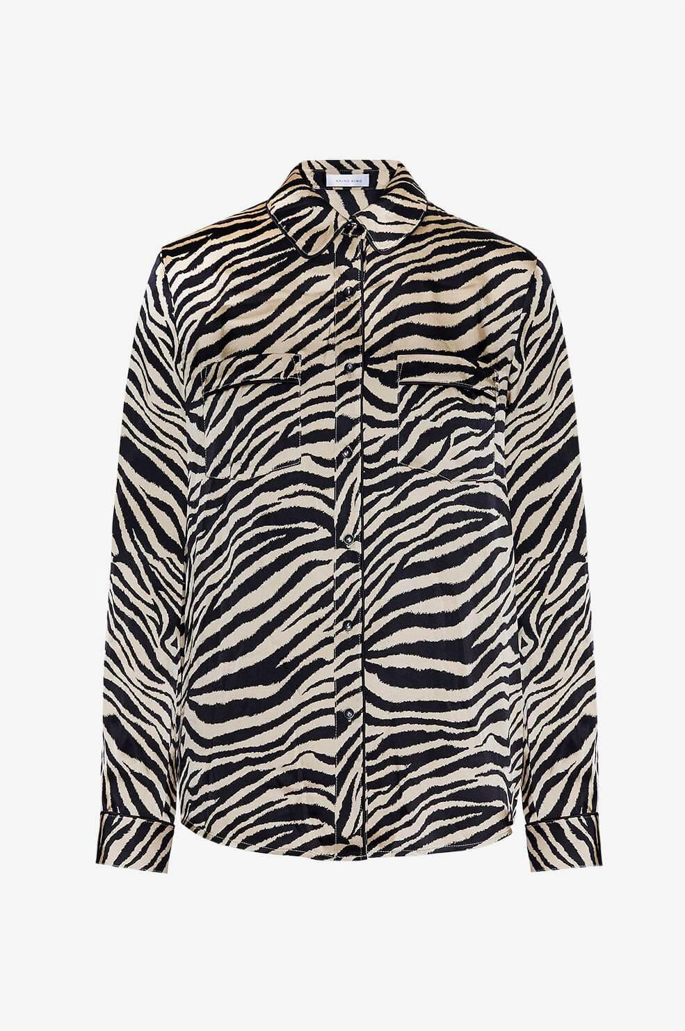 Anine Bing - Multicolor Vivienne Silk Pajama Shirt - Lyst. View fullscreen a43195c97