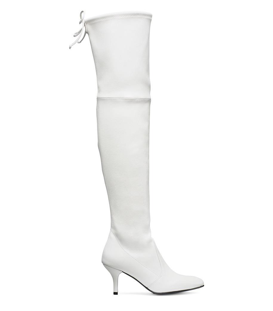 956cb191fb9 Lyst - Stuart Weitzman The Tiemodel Boot in White