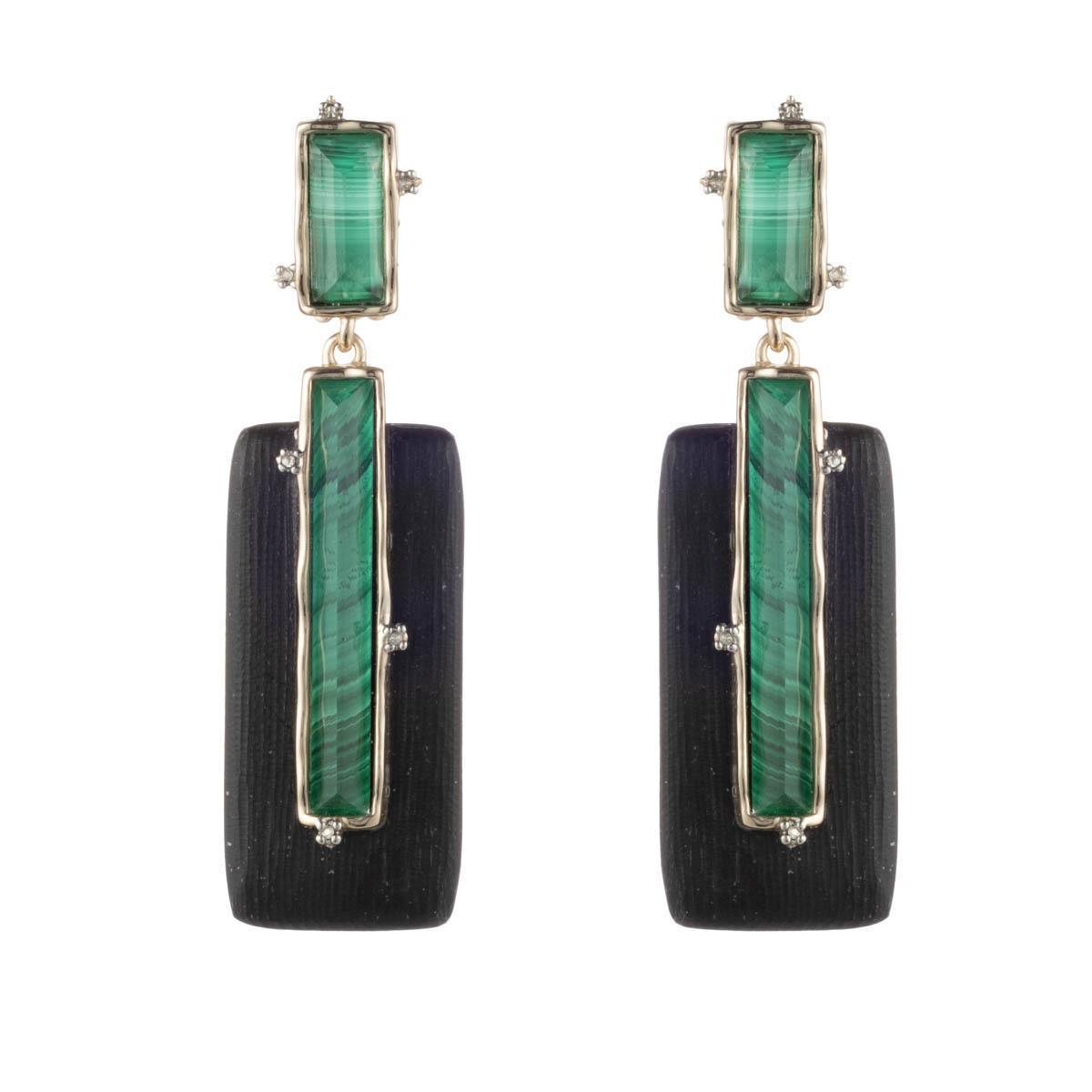 decb4fe8c Alexis Bittar Stone Studded Retro Clip Earring in Black - Lyst