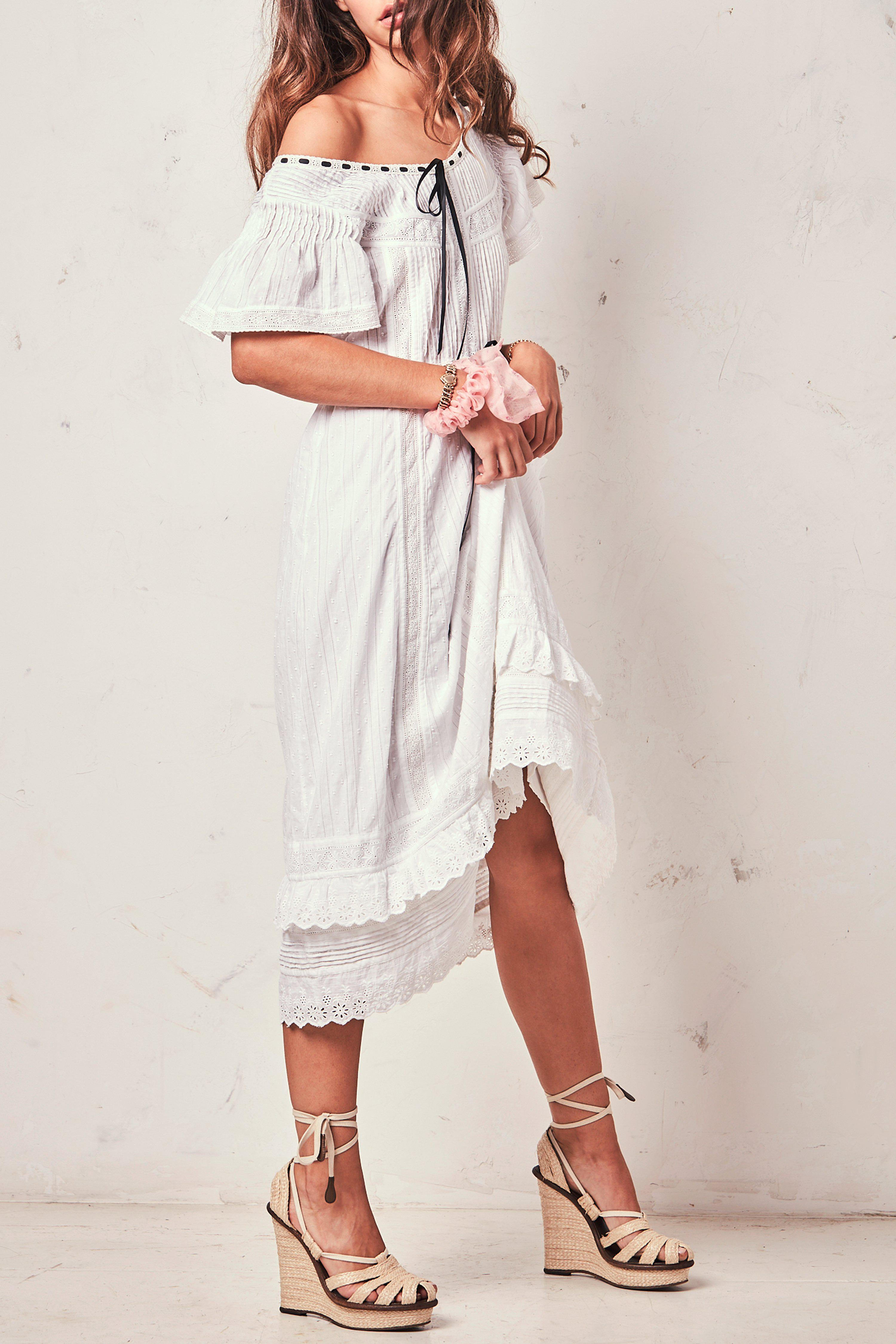 00bd9f2a LoveShackFancy - White Madeline Dress - Lyst. View fullscreen
