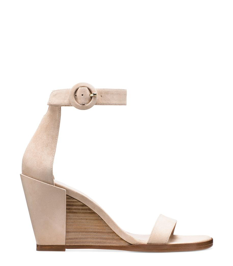 a16841006df Lyst - Stuart Weitzman The Harbor Sandal in Natural