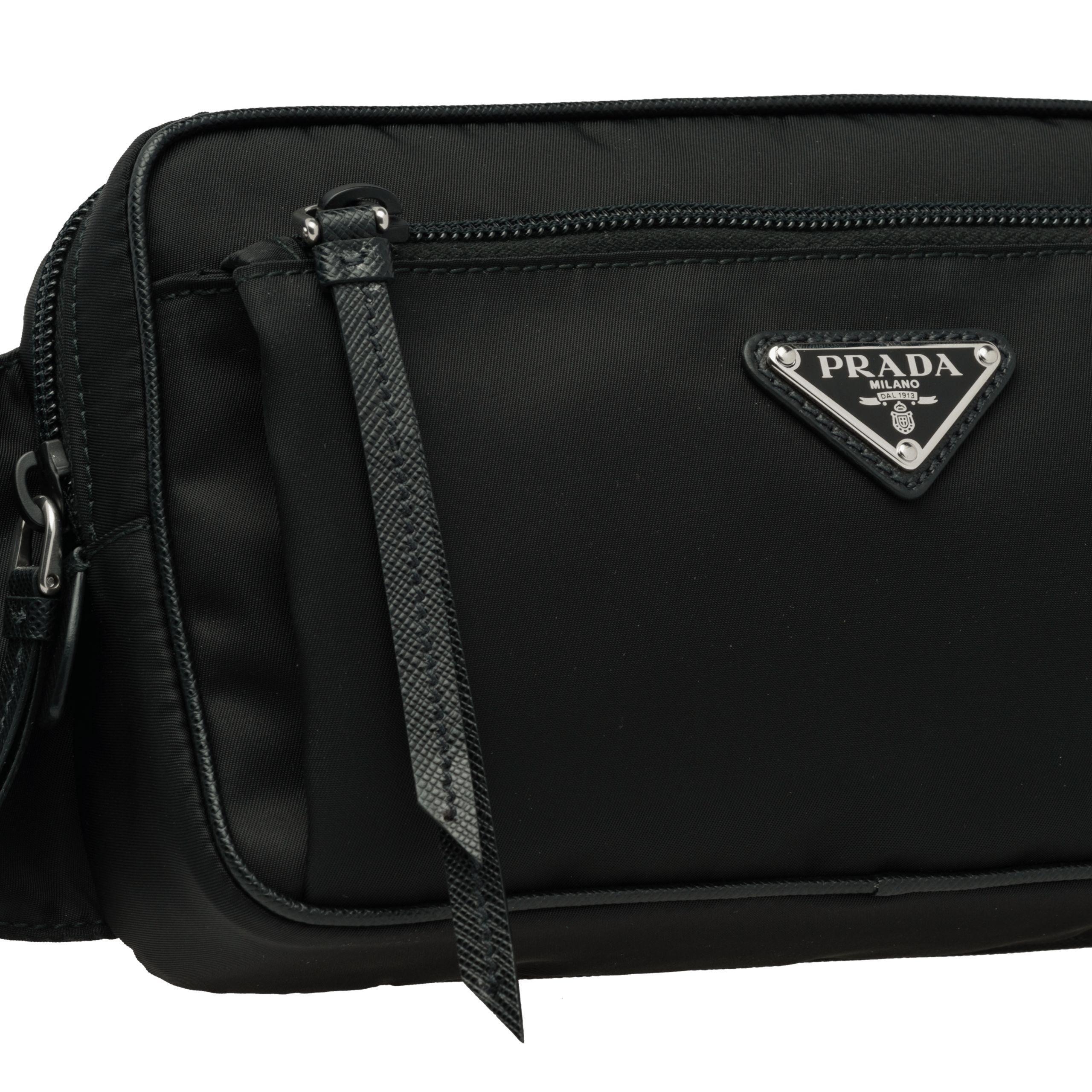 143758430464 Prada - Black Nylon And Leather Belt Bag - Lyst. View fullscreen