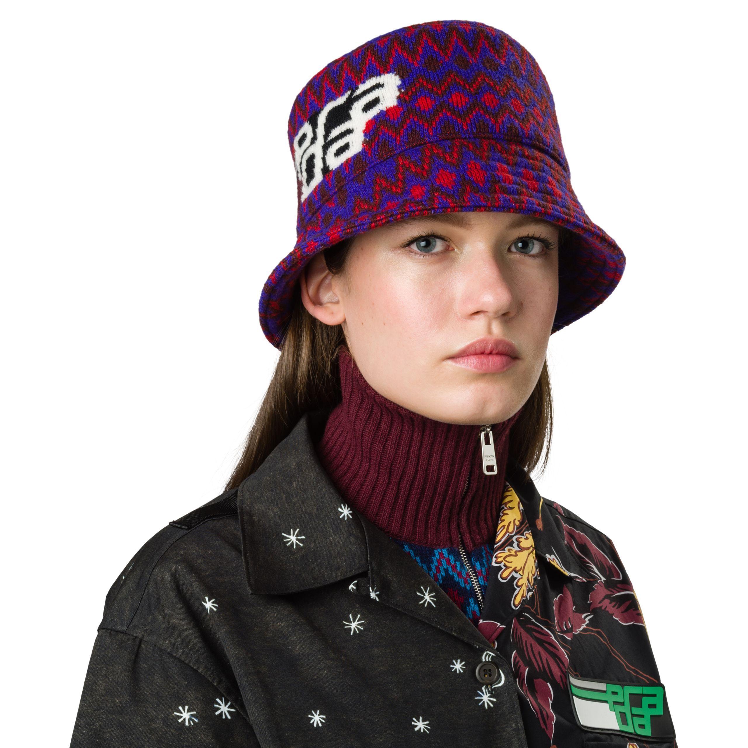 985b1779589 Prada - Purple Wool Hat - Lyst. View fullscreen