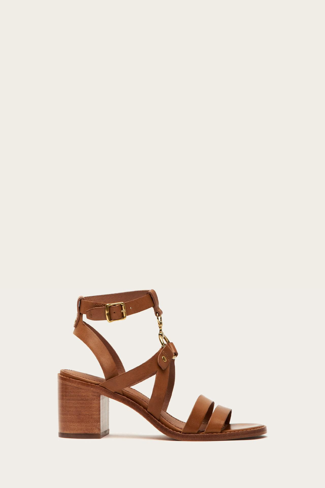 2537ee1120d87 Lyst - Frye Bianca Harness Sandal in Brown