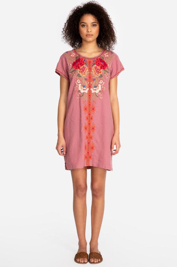e6815a28b5 Johnny Was - Pink Burke Linen Tunic Dress-plus Size - Lyst. View fullscreen